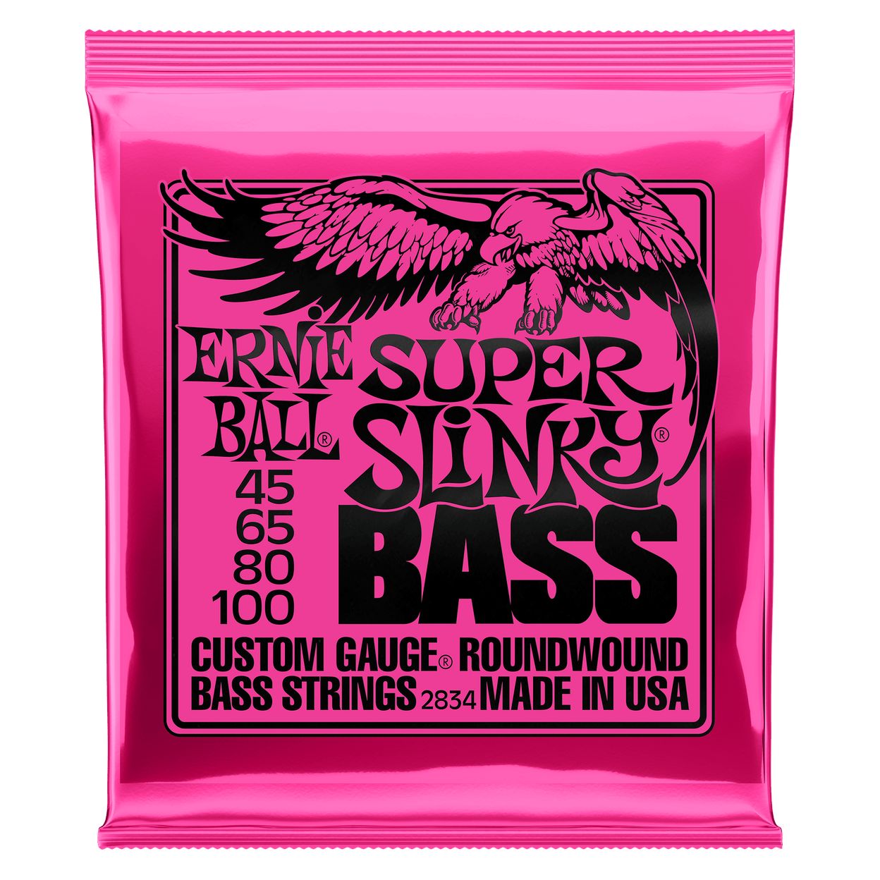 Купить Ernie Ball 2834 Super Slinky Nickel Wound Bass 45-100