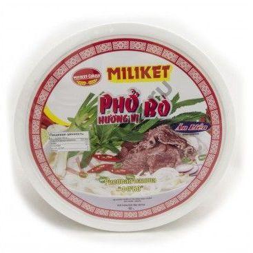 Купить MILIKET Лапша рисовая ФО (PHO BO), 65 г, чашка