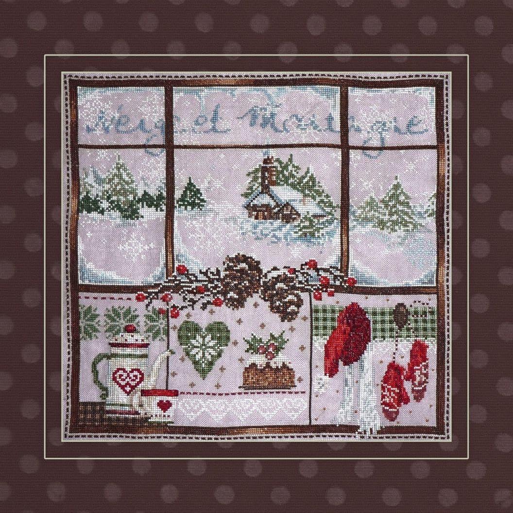 Вышивка крестом на заказ Окно в Рождество