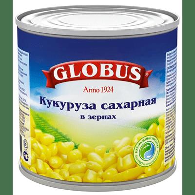 Купить GLOBUS КУКУРУЗА СЛАДКАЯ 425 МЛ. с доставкой на дом . Доставка продуктов Тюмень , доставка продуктов в Тюмени , dostavka-produktov-tyumen , dostavka-produktov-v-tyumeni