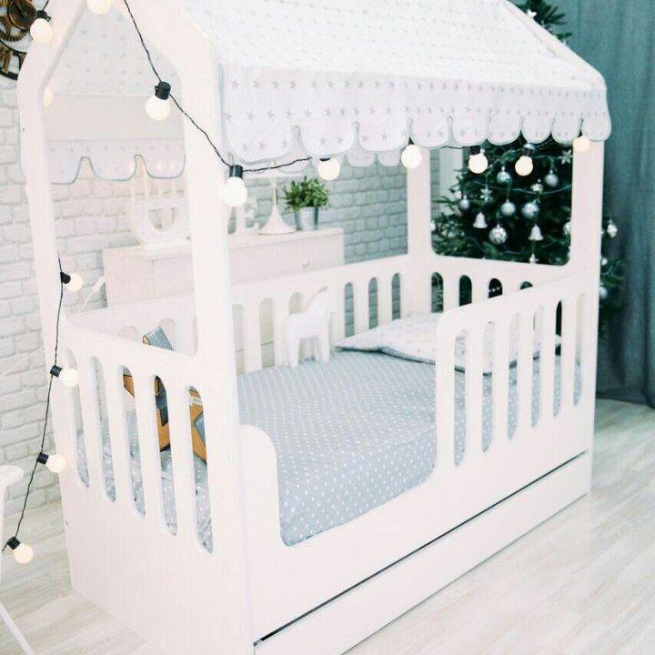 Купить Кровать-домик ЛДСП с ящиком