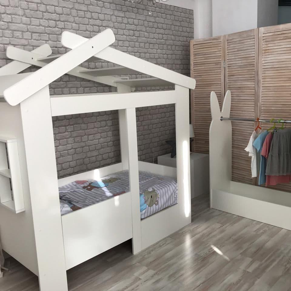 Купить Кровать домик ЛДСП без ящика