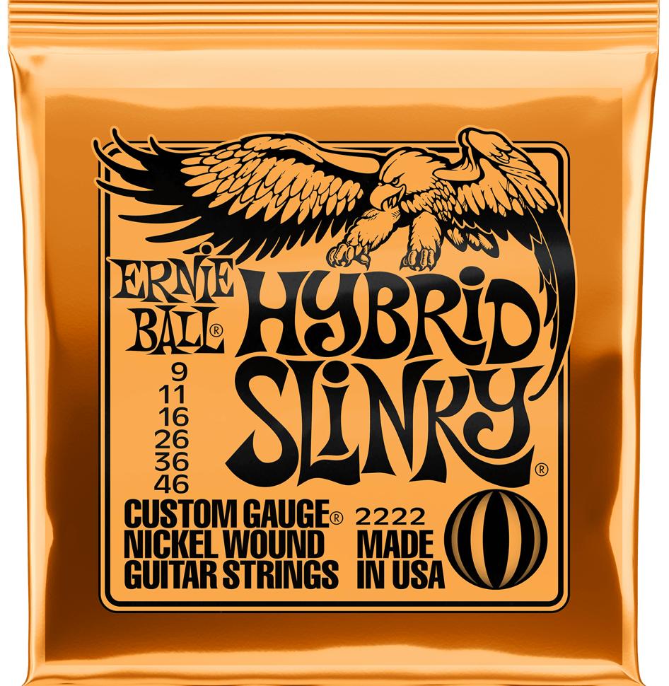 Купить Ernie Ball 2222 Hybrid Slinky Nickel Wound 9-46