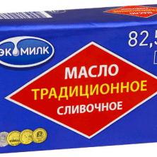 Купить МАСЛО СЛИВОЧНОЕ ЭКОМИЛК ТРАДИЦИОННОЕ 82,5% 450 Г. с доставкой на дом . Доставка продуктов Тюмень , доставка продуктов в Тюмени , dostavka-produktov-tyumen , dostavka-produktov-v-tyumeni
