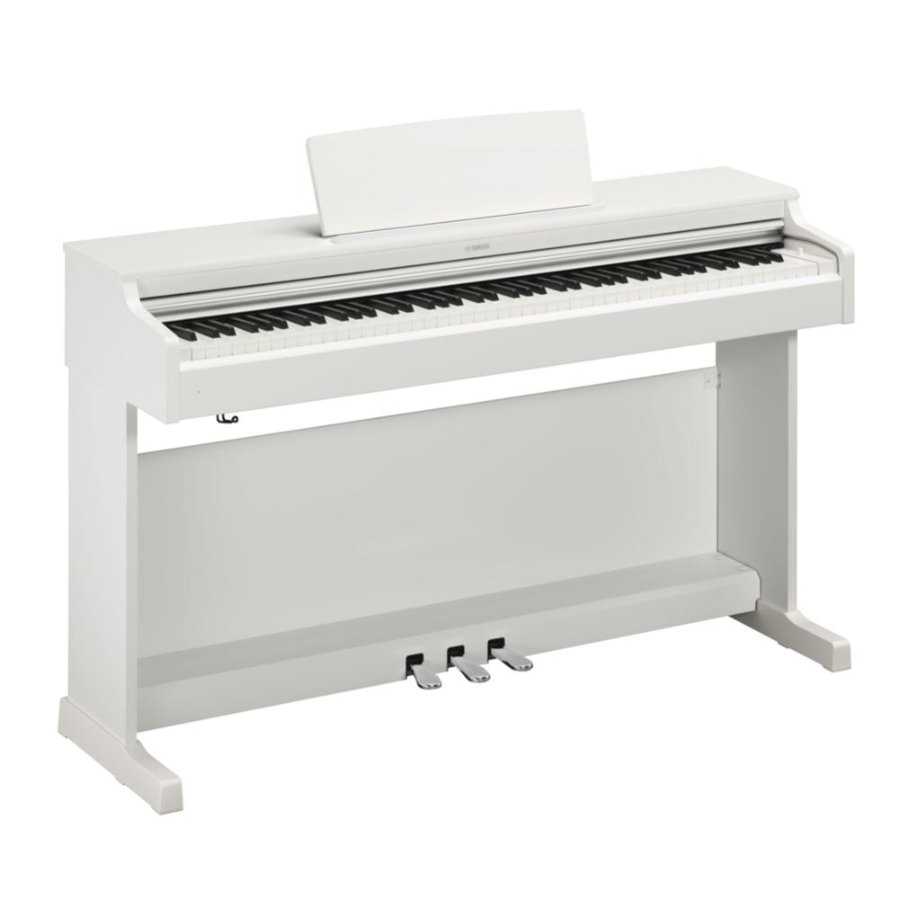 Купить Yamaha YDP-164WH Arius Цифровое фортепиано с клавиатурой GH3 и сэмплами концертного рояля Yamaha CFX. Цвет белый