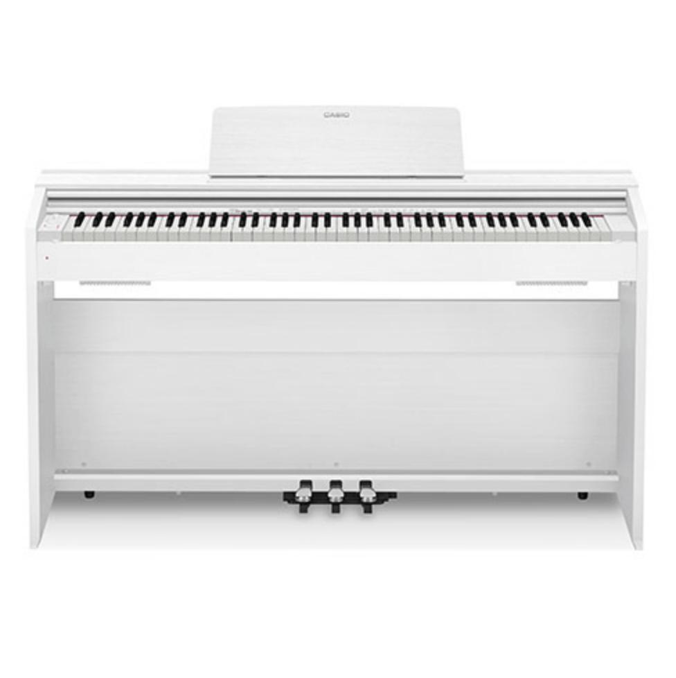 Купить Casio Privia PX-870WE Кабинетное цифровое фортепиано высокого уровня в компактном корпусе, цвет белый