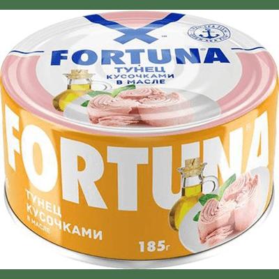 Купить ТУНЕЦ FORTUNA КУСОЧКАМИ В МАСЛЕ 185 Г. доставка продуктов Тюмень . доставка продуктов в Тюмени . доставка фруктов Тюмень . доставка фруктов в Тюмени . доставка воды Тюмень . доставка воды в Тюмени