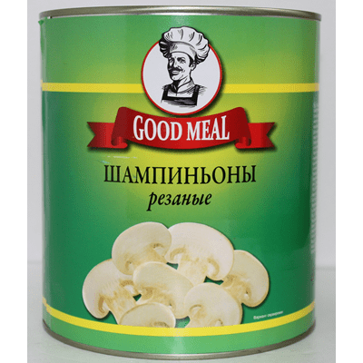 Купить ШАМПИНЬОНЫ РЕЗАНЫЕ GOOD MEAL 2840 Г. с доставкой на дом . Доставка продуктов Тюмень , доставка продуктов в Тюмени , dostavka-produktov-tyumen , dostavka-produktov-v-tyumeni