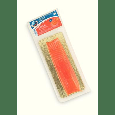 Купить СЕМГА ФИЛЕ-КУСОК СЛАБОСОЛ. 200 Г. Доставка продуктов Тюмень . Рыба Тюмень . Доставка продуктов в Тюмени