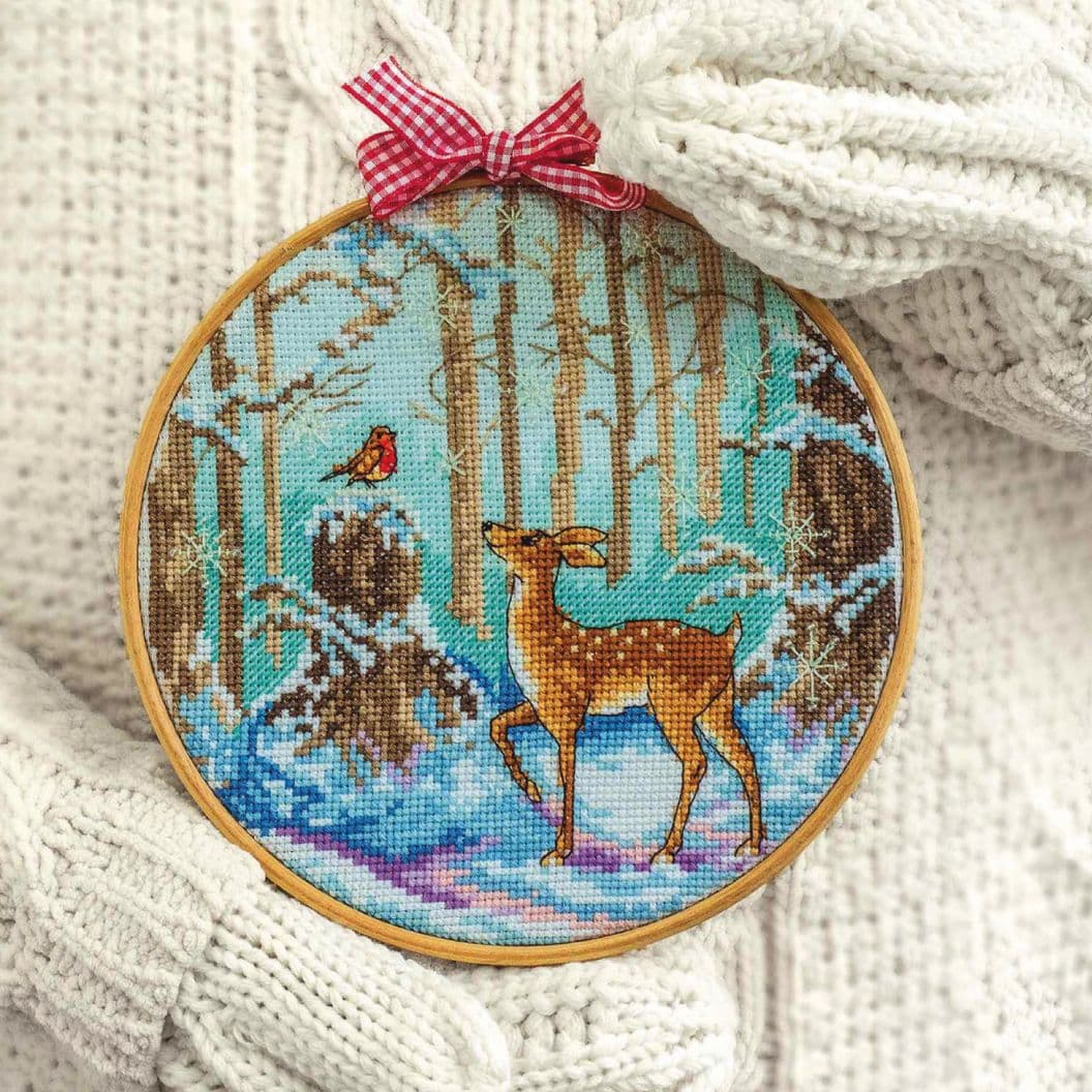 Вышивка крестом на заказ Рождество Зимняя сказка