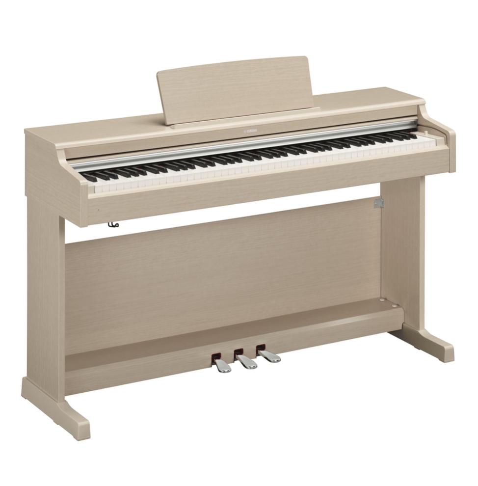 Купить Yamaha YDP-164WA Arius Цифровое фортепиано с клавиатурой GH3 и сэмплами концертного рояля Yamaha CFX. Цвет белый ясень