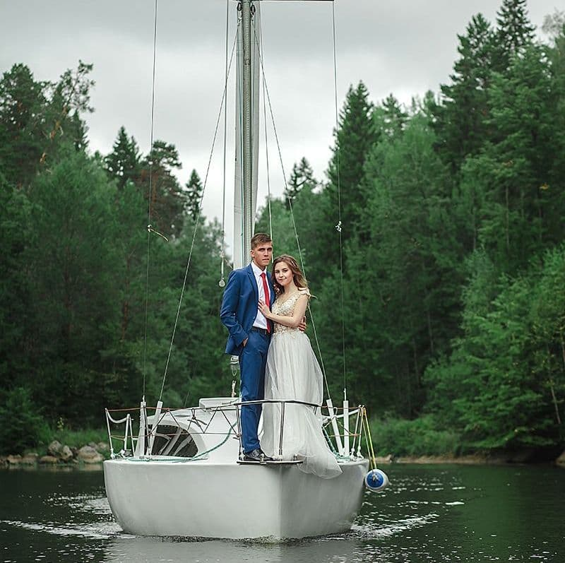 Свадебная фотосессия на яхте Юлия